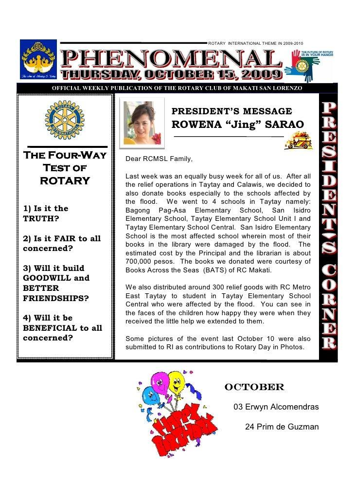 Phenomenal Oct 15, 2009