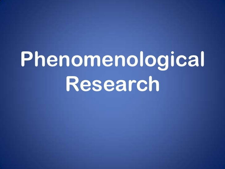 phenomenological qualitative research