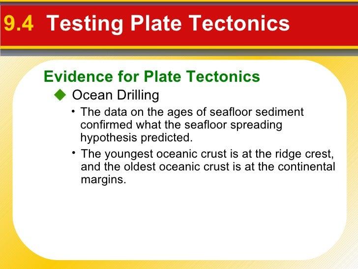 Test Plate Tectonics 9.4 Testing Plate Tectonics