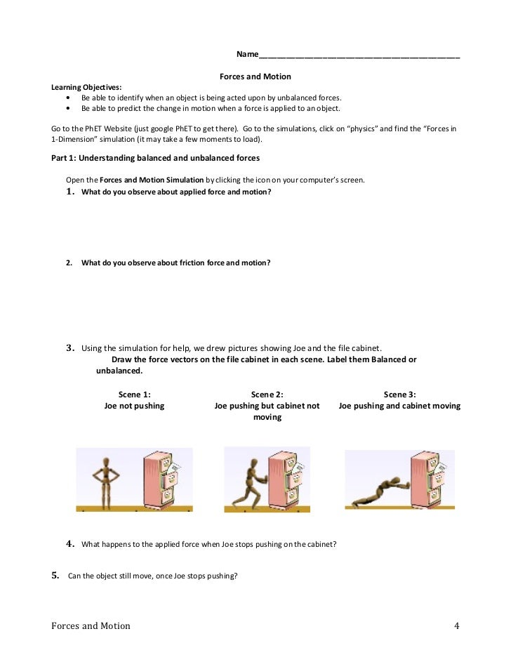 Unbalanced forces worksheet 2