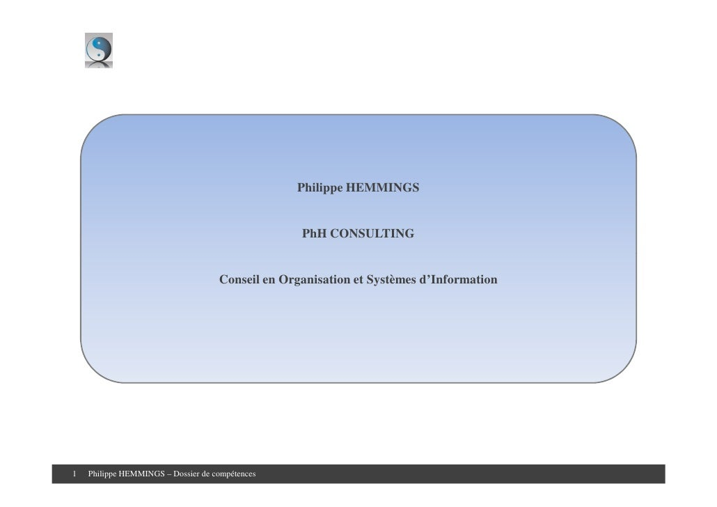 Philippe HEMMINGS                                                     PhH CONSULTING                                      ...