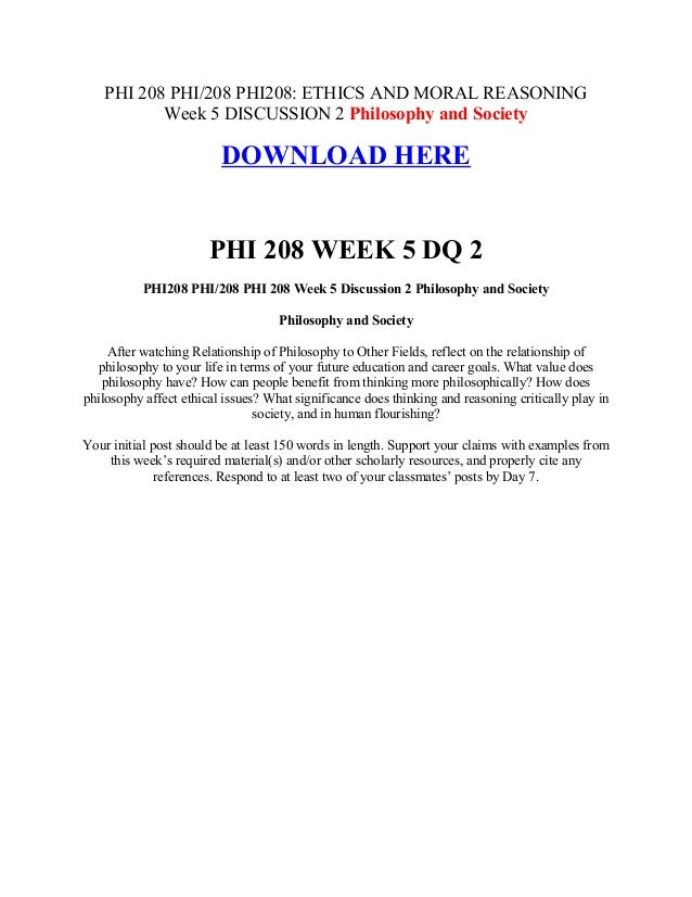 phi 208 week 3 discussion 2