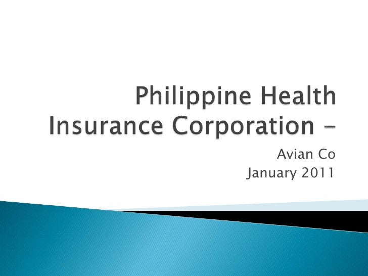 Philippine Health Insurance Corporation -  Avian Co January 2011