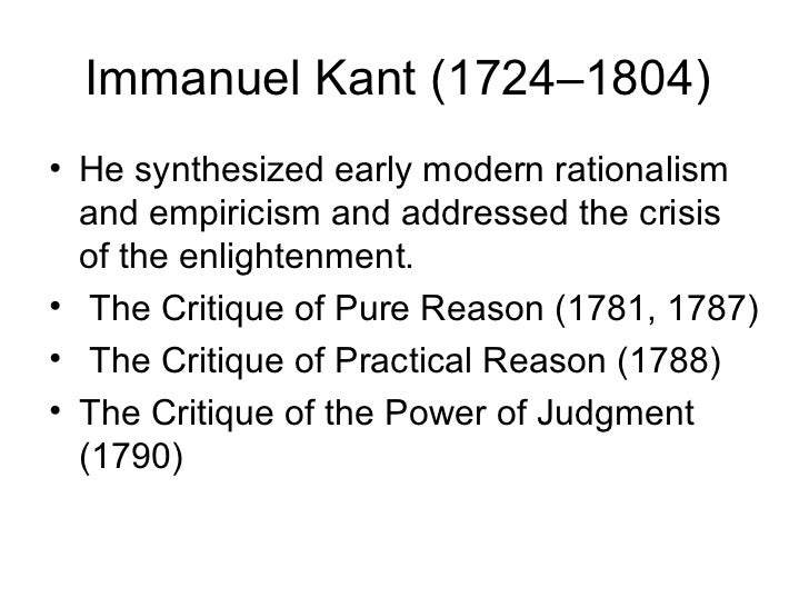 immanuel kants beliefs in the field of human knowledge The debate between empiricists and rationalists prompts immanuel kant  but rather a web of interlocking beliefs  truth is thus a function of human endeavor.