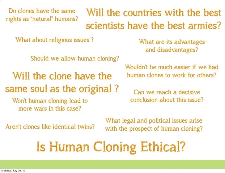 biological definition of a clone and ethical issues of cloning Cloning is the process of creating an identical copy of an original organism or thing a cloning in the biological sense, therefore, is a molecule, single cell (like bacteria, lymphocytes etc) or multi-cellular organism that has been directly copied from and is therefore genetically identical to another living organism.
