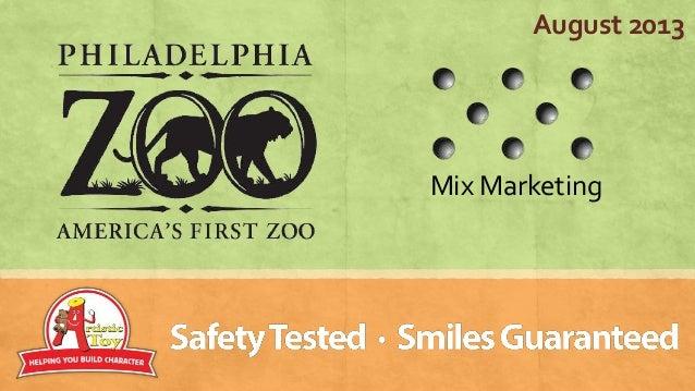 Philadelphia zoo and mix marketing