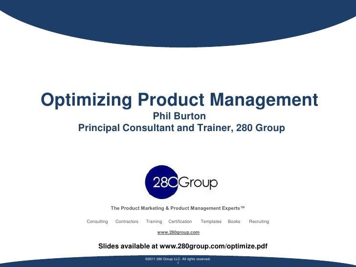 Phil burton optimizing product management
