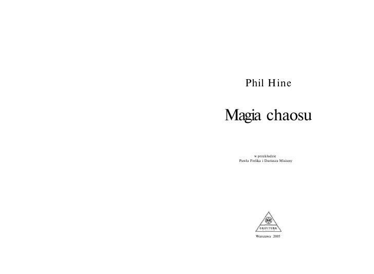 Phil Hine   Magia Chaosu