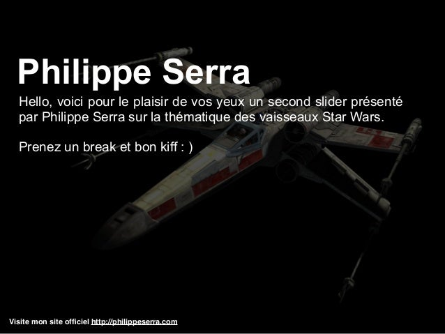 Visite mon site officiel http://philippeserra.com Hello, voici pour le plaisir de vos yeux un second slider présenté par Ph...
