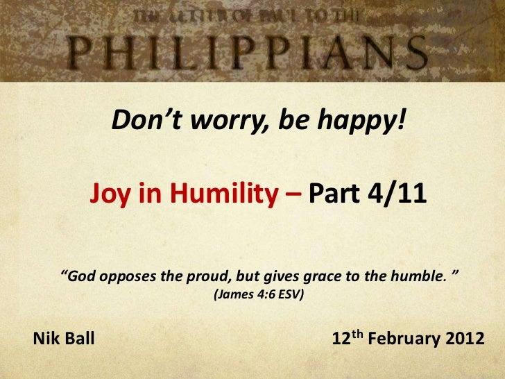 Philippians  - Joy in Humility - part 4