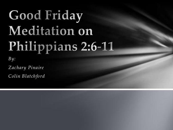 Philippians Good Friday Meditation