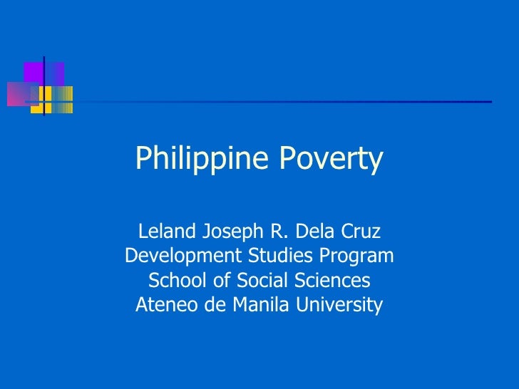 Philippine Poverty Situationer 2008