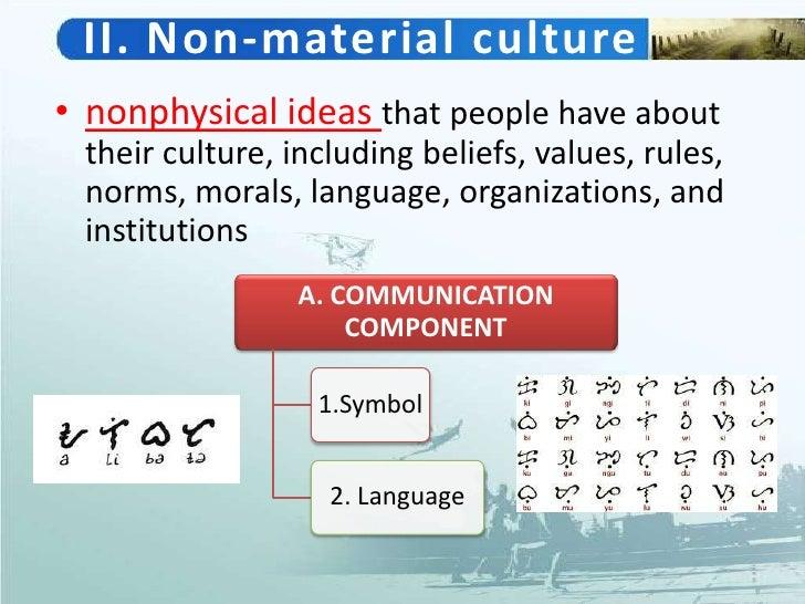 non material culture essay samples