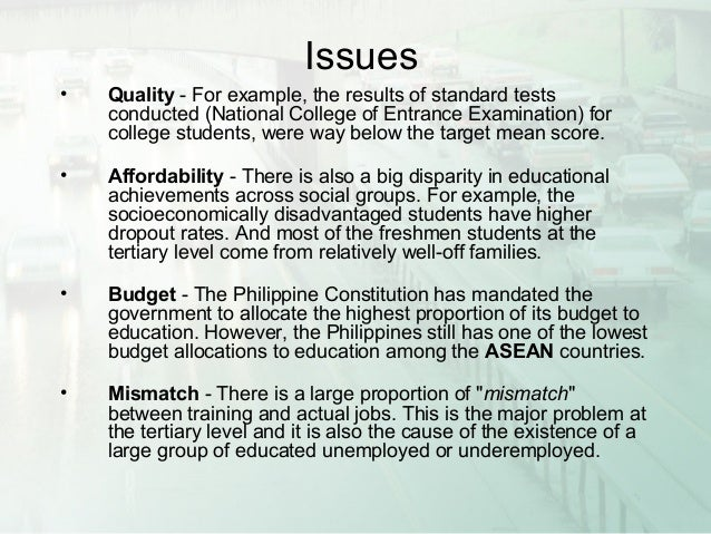 the current system of education in the philippines essay
