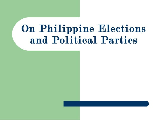 On Philippine Elections and Political Parties