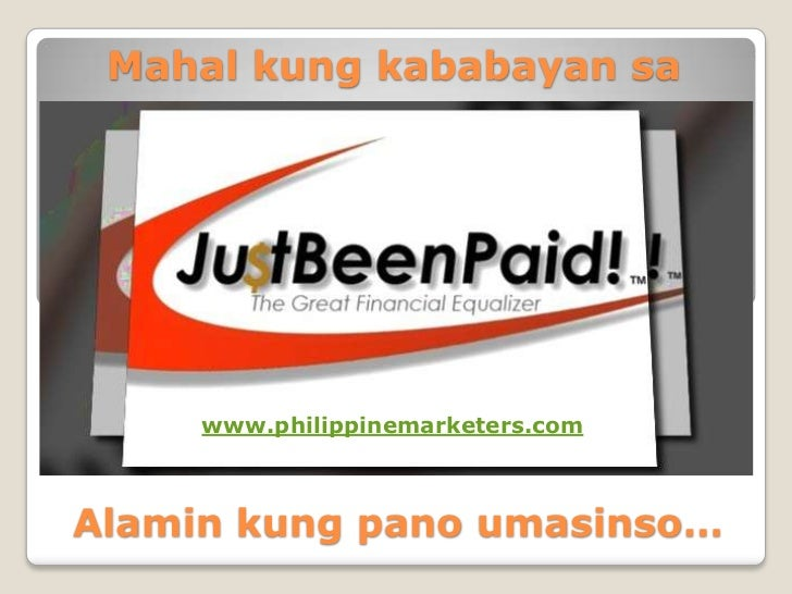 Mahal kung kababayan sa     www.philippinemarketers.comAlamin kung pano umasinso…