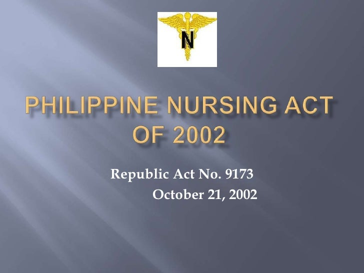 Philippine Nursing Act of 2002