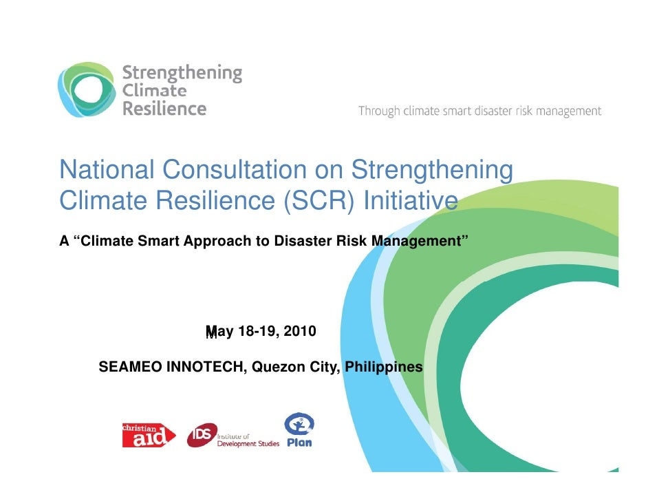 Philippines- strengthening climate resilience
