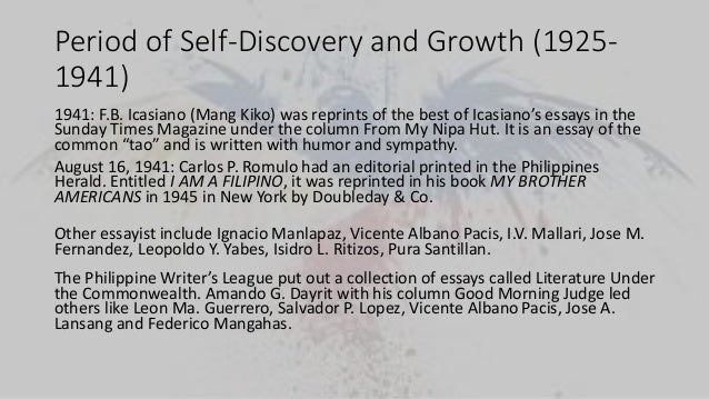 self discovery essays Discovery is the key to human progress but it always comes at a cost in ang lee's film, life of pi, the protagonist embarks on a journey of self discovery.
