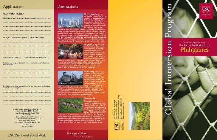 Philippines immersion program brochure