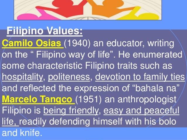 Filipino Values Ppt Filipino Values Camilo Osias
