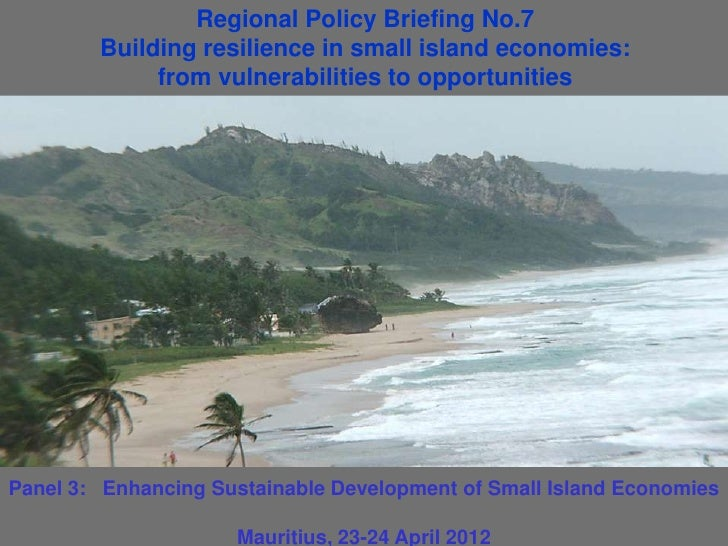 Regional Policy Briefing No.7        Building resilience in small island economies:             from vulnerabilities to op...