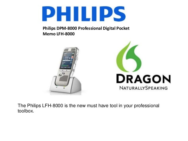 Philips DPM-8000 Professional Digital PocketMemo LFH-8000The Philips LFH-8000 is the new must have tool in your profession...