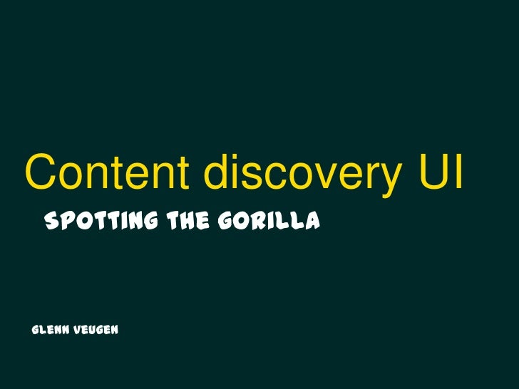 Content Discovery UI