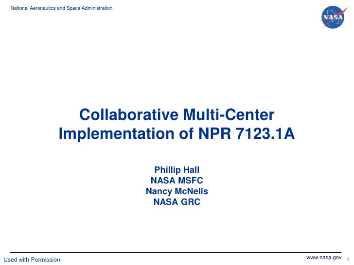 National Aeronautics and Space Administration                         Collaborative Multi-Center                       Imp...