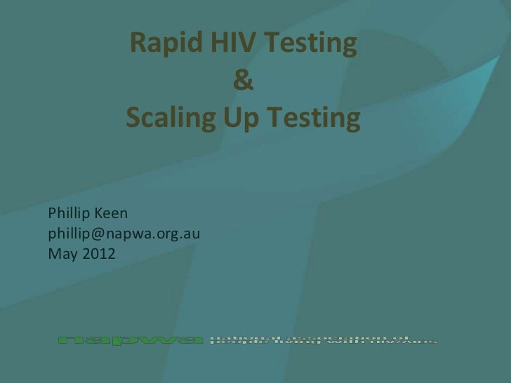 Rapid HIV Testing & Scaling Up Testing