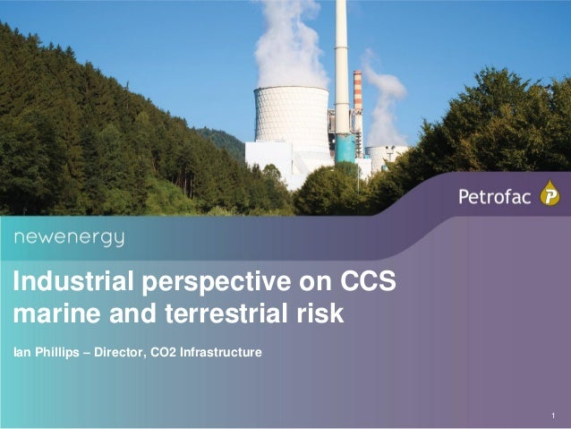 Industrial perspective on CCSmarine and terrestrial riskIan Phillips – Director, CO2 Infrastructure                       ...