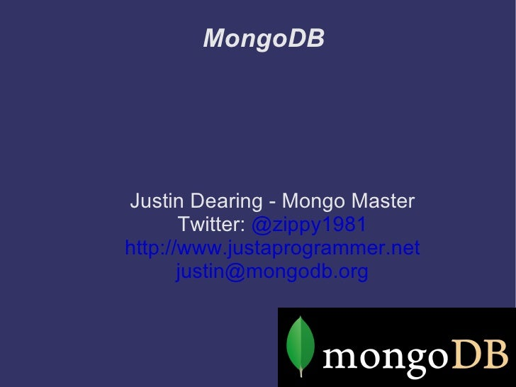 MongoDB PhillyDB database throw down