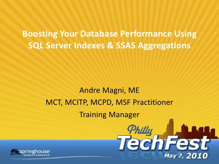 Philly TechFest SQL Indexes