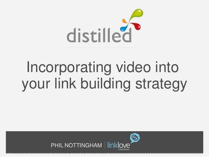Video in linkbuilding strategy