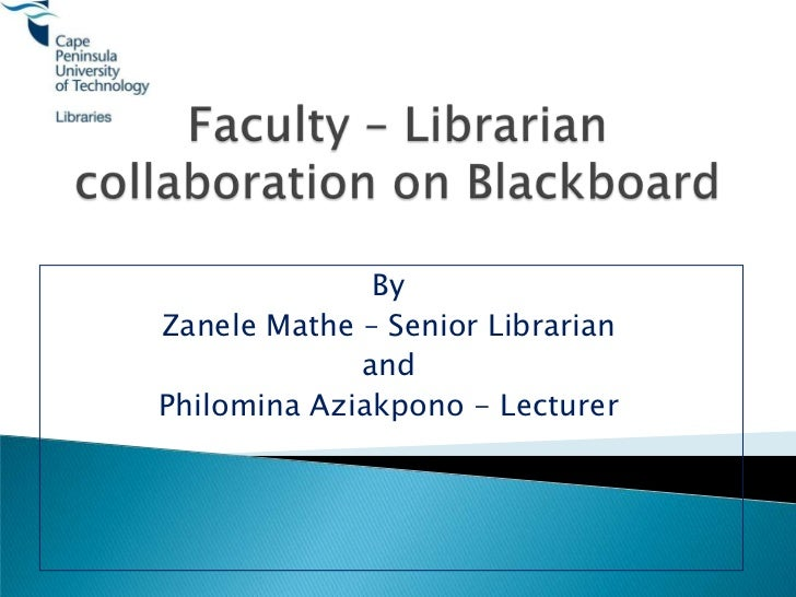 Student - library - lecturer collaboration to foster information literacy