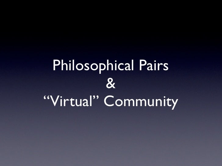 Philosophical Pairs Virtual Community