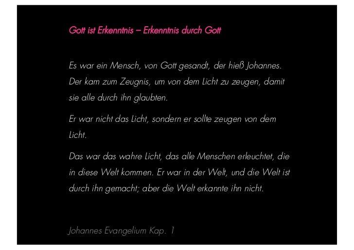 STEPHANIE HARTUNG                        Gott ist Erkenntnis – Erkenntnis durch Gott           Überschrift in Futura Light...