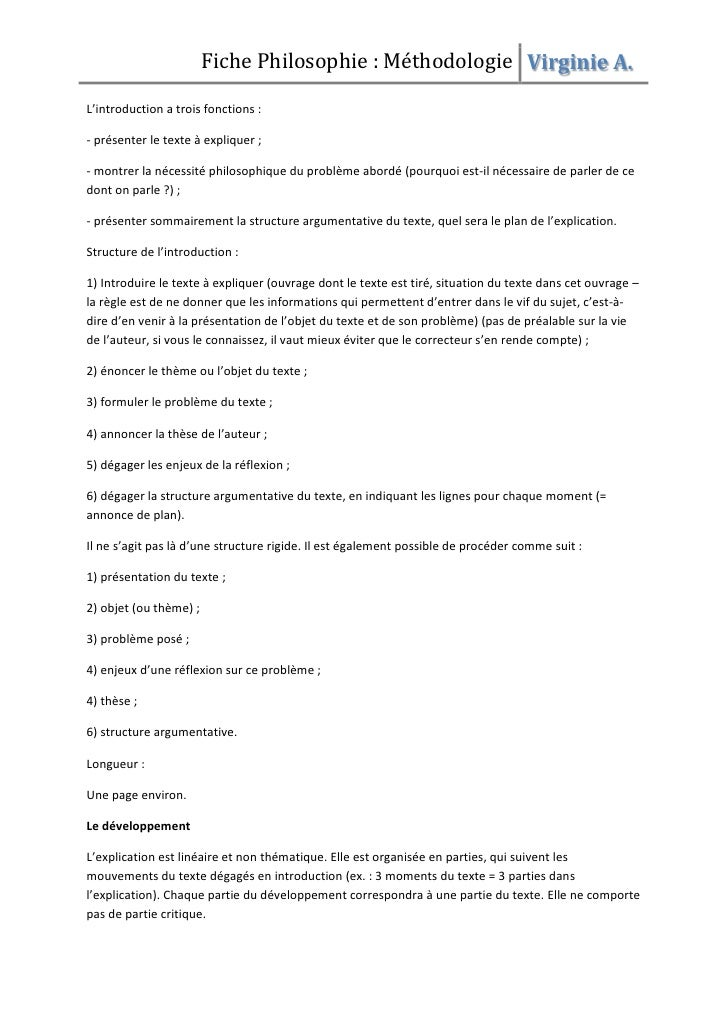 Dissertation philosophie mthodologie