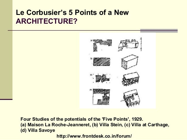 Philosophies of le corbusier for 5 points of architecture