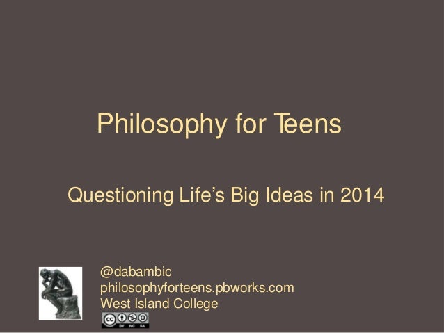 Philosophy for Teenagers