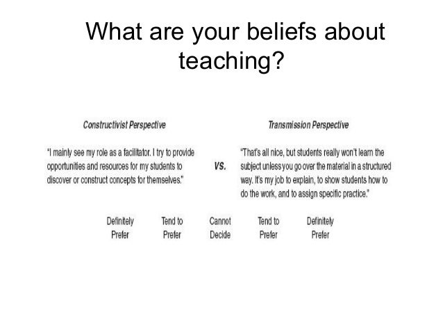 What are your views on teaching philosophy?