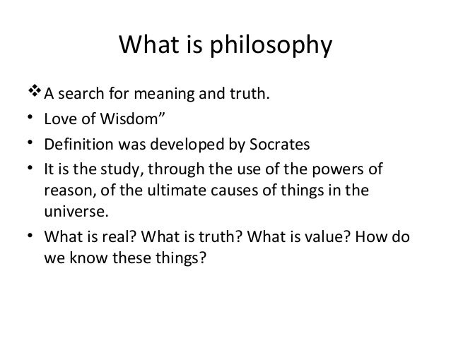 understanding the philosophy as a quest for truth Philosophy of religion religion and truth  and this brings us to the nature of myths generally and how the understanding of them has changed over time.