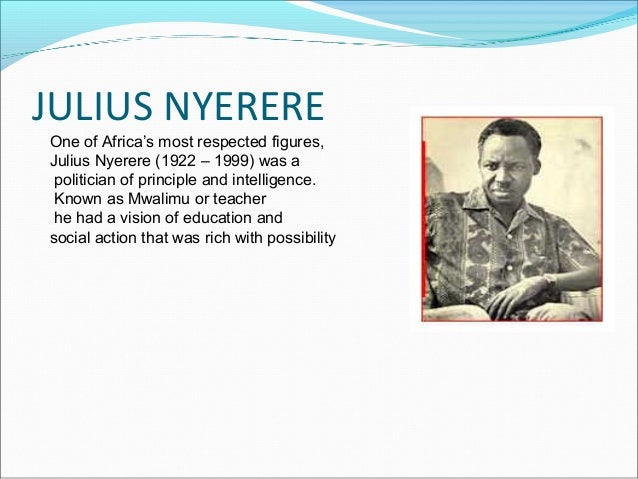 Philosophy of education nyerere