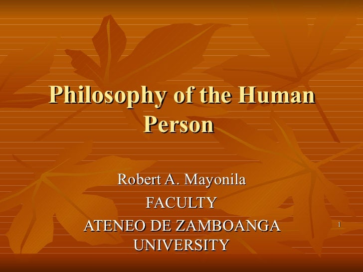 Philosophy of the human person(final)