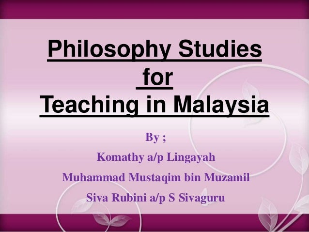 Philosophy studies