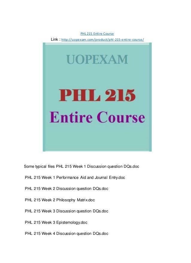 phl 215 week 2