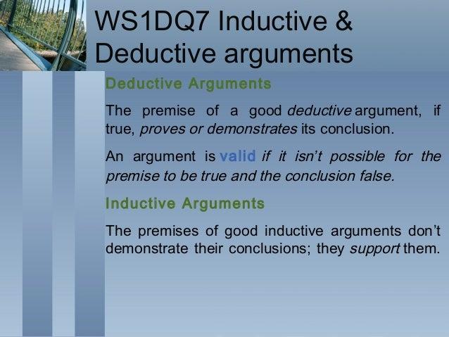 Deductive reasoning essay