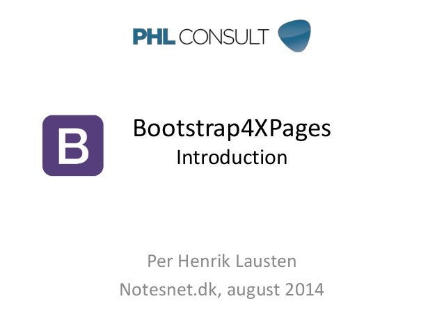 Bootstrap4XPages - an introduction