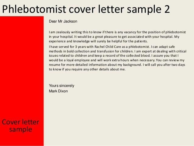 Hospital Phlebotomist Cover Letter
