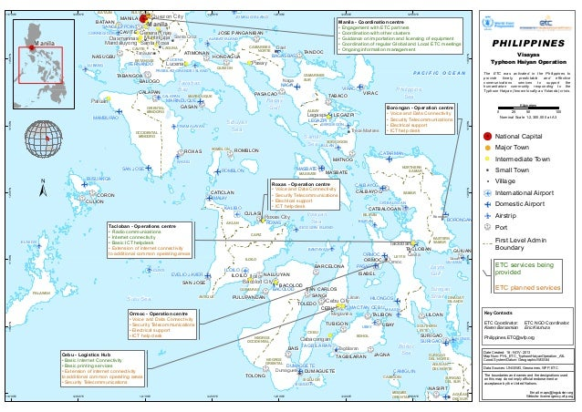 MAP ETC Services being provided typhoon #haiyan operation